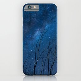 Dry trees trying to reach the stars. iPhone Case