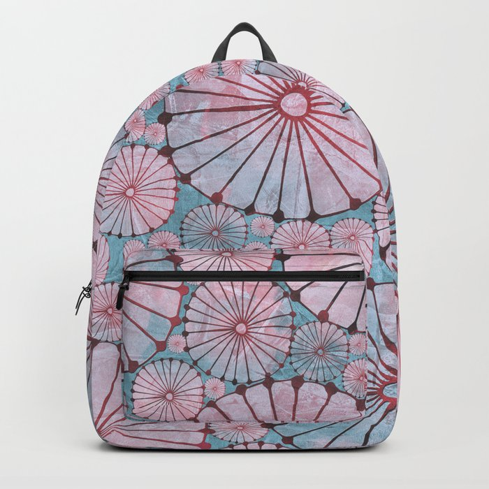 Abstract Floral Circles 3 Backpack