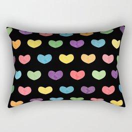 Colorful hearts II Rectangular Pillow