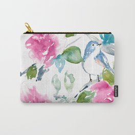 Blue Bird in Spring Carry-All Pouch