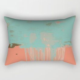 Infinity abstract art print pink turqoise Rectangular Pillow