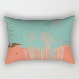 Infinity abstract art print pink turqoise Rectangular Pillow