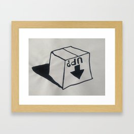 This way up Framed Art Print