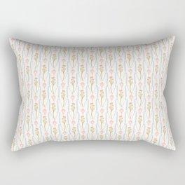 Folk Art Daisy Stem Pattern Rectangular Pillow