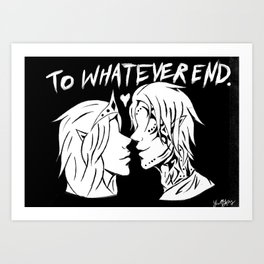 To Whatever End Art Print