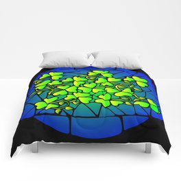Stained Glass Shamrocks Comforters