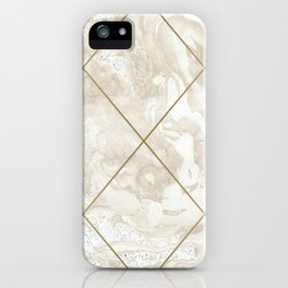 Gold & Marble 01 iPhone Case