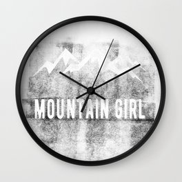 Mountain Girl Wall Clock