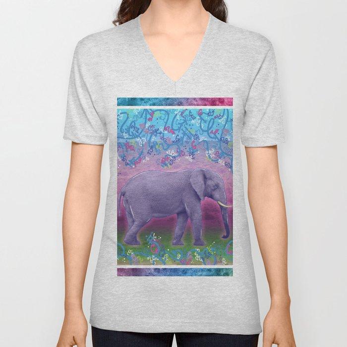 Extraordinary Little (Big) Elephant Unisex V-Neck