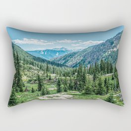 Colorado Wilderness // Why live anywhere else? Amazing Peaceful Scenery with Evergreen Dusted Hills Rectangular Pillow