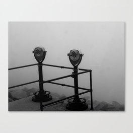 Pikes Peak Stuck in a Cloud Canvas Print