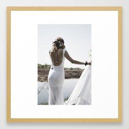 Boho woman Framed Art Print