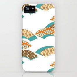 Geometry wind pattern iPhone Case