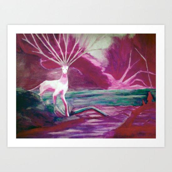 Forest Saint color version Art Print