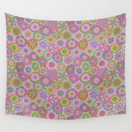 Millefiori-Fairytale Colors Wall Tapestry
