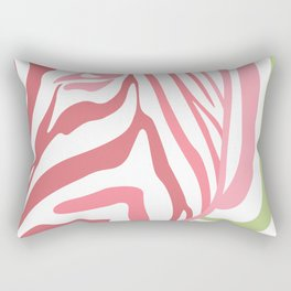 Pink And Green Zebra Portrait, Animal Photo, Large Printable Photography, Stripes Wall Art, Striped Rectangular Pillow