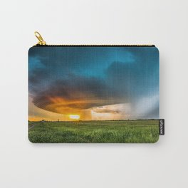 Invasion - Colorful Storm Invading Central Oklahoma Plains Carry-All Pouch