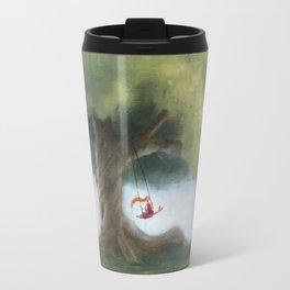 Swinging under a big tree Travel Mug