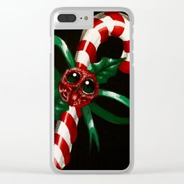 candycane Clear iPhone Case