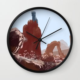 The Blue Tower Wall Clock