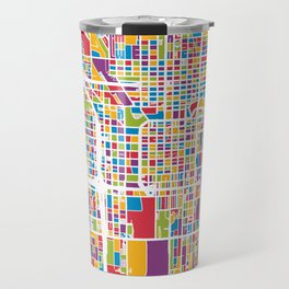 Chicago City Street Map Travel Mug