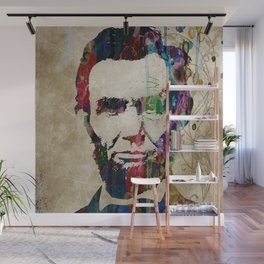 Abraham Lincoln Watercolor Modern Abstract GIANT PRINT ART Wall Mural