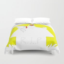 rip snoopy Duvet Cover