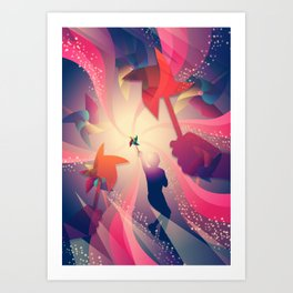 Let's Play Pinwheels Art Print