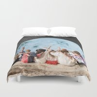 peace Duvet Covers featuring Peace by Cs025