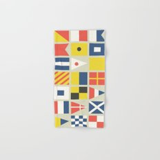 Geometric Nautical flag and pennant Hand & Bath Towel