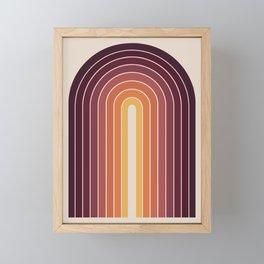 Gradient Arch - Sunset Framed Mini Art Print