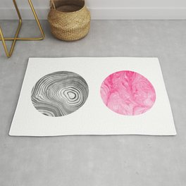 Maki - spilled ink abstract painting modern swirl ocean shape circle math geometry marble japanese Rug