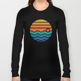 Sunrise on the Sea Vintage Style T-Shirt Long Sleeve T-shirt