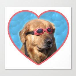 Swimmer Dog Canvas Print