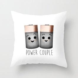 Power Couple | Batteries Throw Pillow