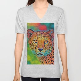 AnimalColor_Cheetah_001 Unisex V-Neck