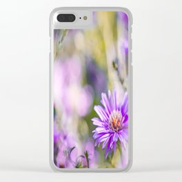 Summer dream - purple flowers - happy and colorful mood Clear iPhone Case