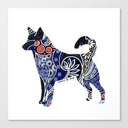 Indonesian Batik Dog Canvas Print