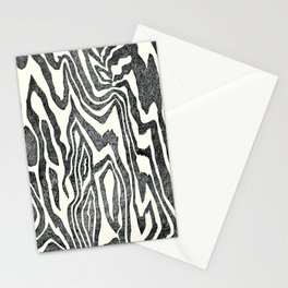 Wood Texture Linocut Stationery Cards