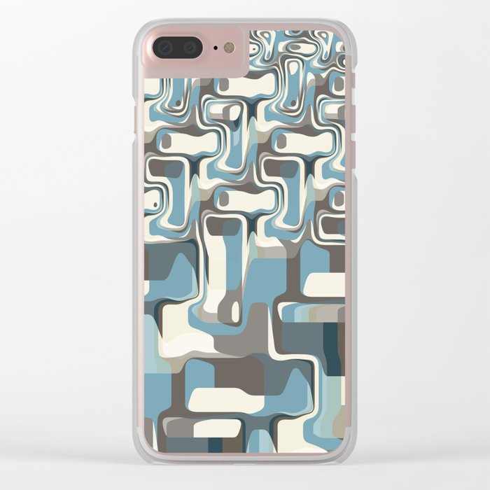 Abstract Shapes Metamorphosis Clear iPhone Case