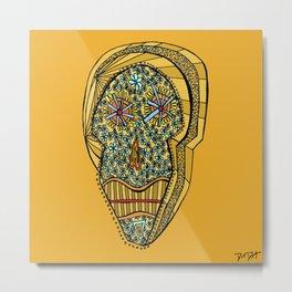 """""""Viva Robotico 6"""" - skulls Metal Print"""