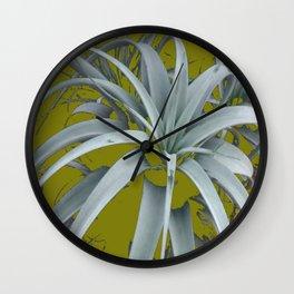 GRACEFUL GREY SUCCULENT GARDEN PLANT MODERN ART Wall Clock