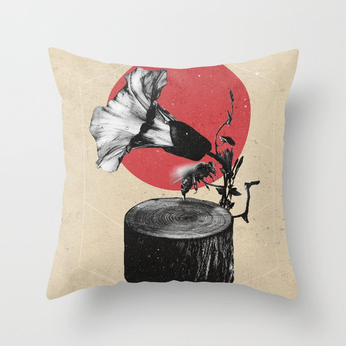 Gramophone Throw Pillow