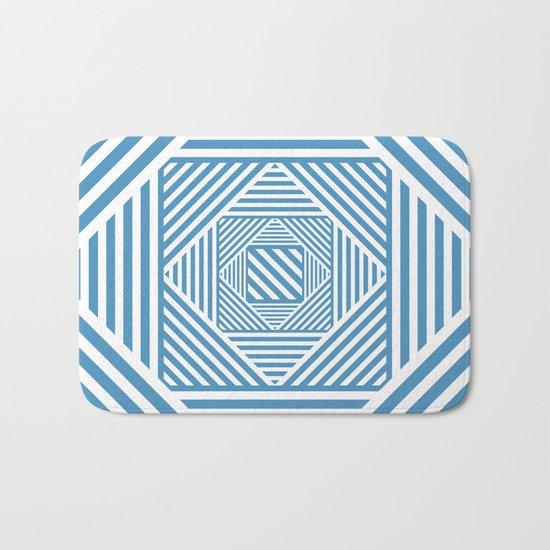 Blue & White Secret Passage Bath Mat