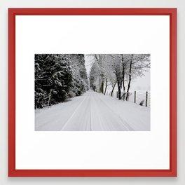 Narrowing Lanes Framed Art Print