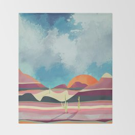Pink Desert Glow Throw Blanket