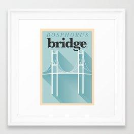 Minimal Bosphorus Bridge Poster Framed Art Print