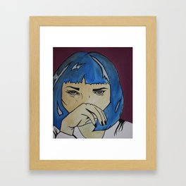 Pop Art Uma Thurman Framed Art Print