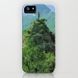 the man and the tower iPhone Case