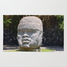 Olmeca head from Veracruz, Mexico Rug